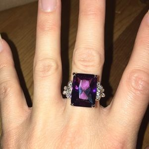 Beautiful purple stone colored ring